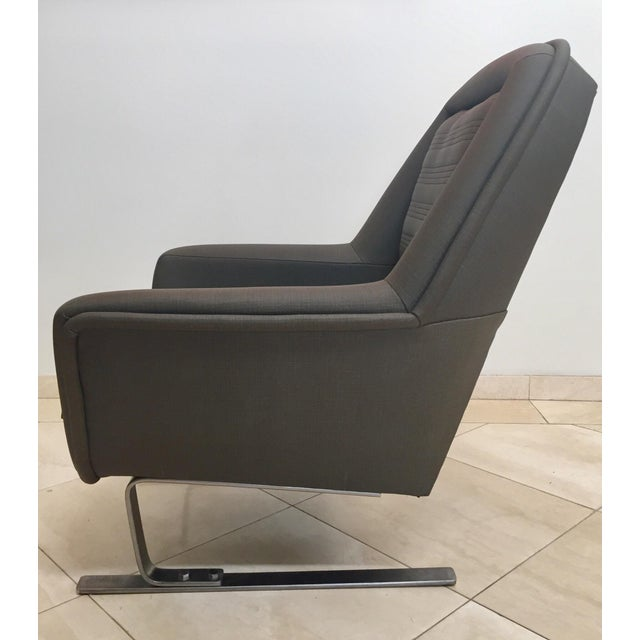 Bauhaus 1970s Modernist Cantilever Club Lounge Chairs by Augusto Bozzi - a Pair For Sale - Image 3 of 12
