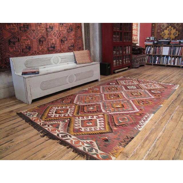 A very good quality tribal Kilim from the Taurus Mountains with the classical design of this region.