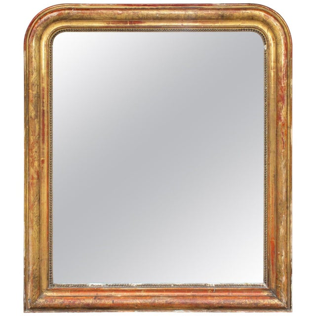 Antique French Gilt Louis Philippe Mirror With Floral Decoration For Sale - Image 13 of 13