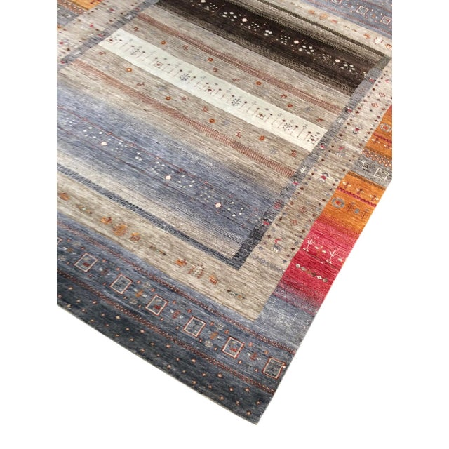 """Tribal Hand-Knotted Shiraz Wool Rug - 5'6"""" x 7'7"""" - Image 3 of 4"""