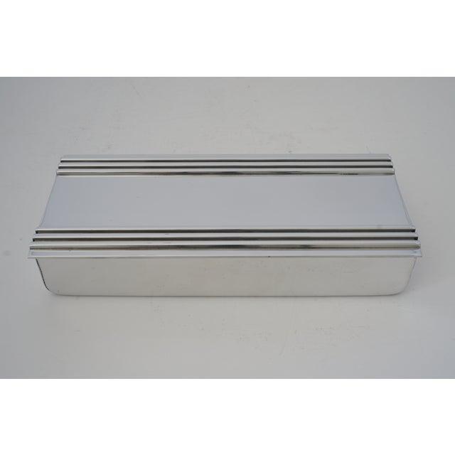 Vintage American Art Deco 1930s Kensington Box Aluminum For Sale - Image 11 of 11