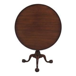 1960's Vintage Kittinger CW-70 Colonial Williamsburg Clawfoot Tilt Top Table For Sale
