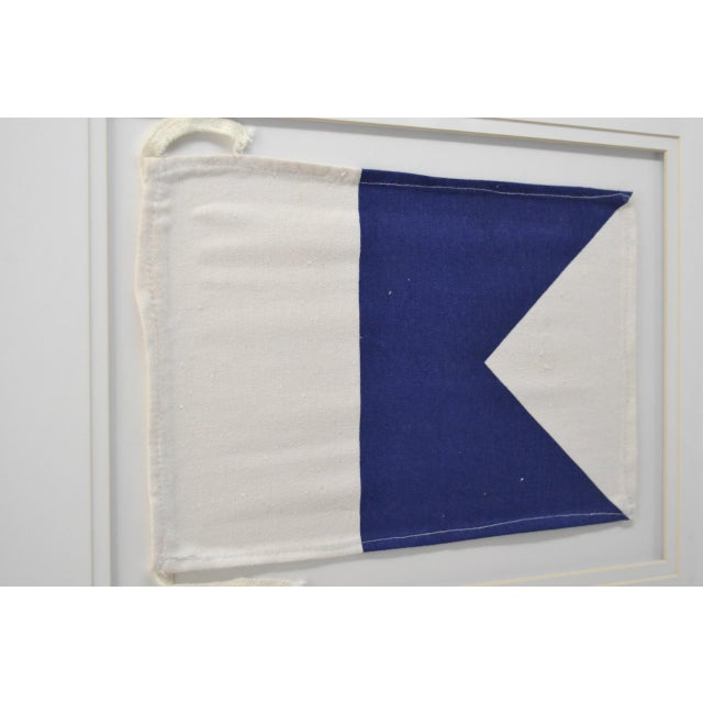 "Coastal Framed Signal Flags Letters ""A"" & ""X"" - a Pair For Sale - Image 3 of 4"