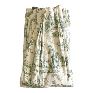 Custom French Country Toile Drapery Panels - Set of 6
