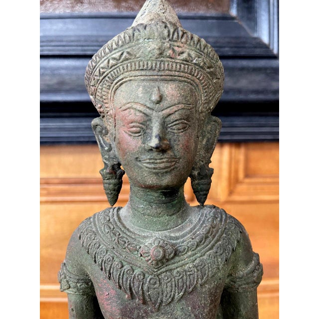 Antique Lopburi Buddha Statue from Thailand For Sale - Image 12 of 13