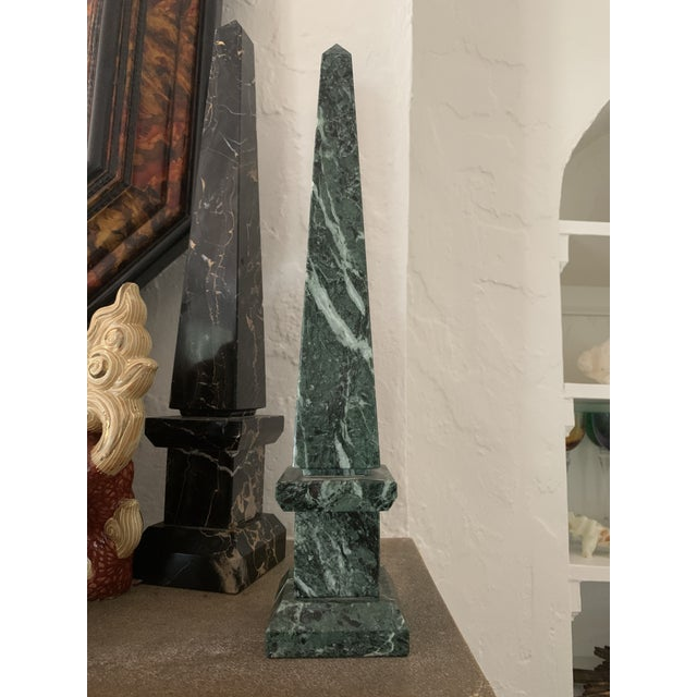 Early 20th Century Early 20th Century Green Marble Obelisk For Sale - Image 5 of 5