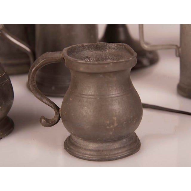 English Pewter Pieces with Maker Stamps Circa 1850 - Set of 11 For Sale - Image 4 of 11
