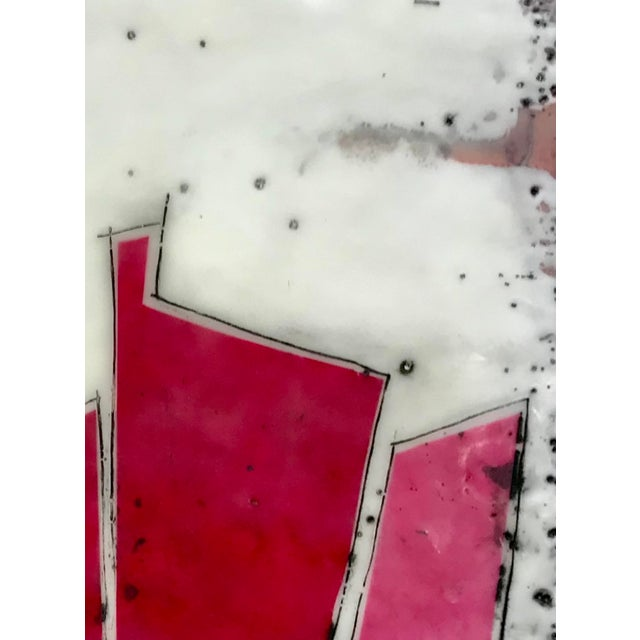 """Abstract """"Perceptions No. 12"""" Original Encaustic Collage Painting by Gina Cochran For Sale - Image 3 of 6"""