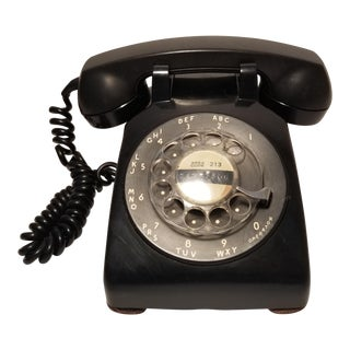 Vintage Black Western Electric Rotary Dial Telephone
