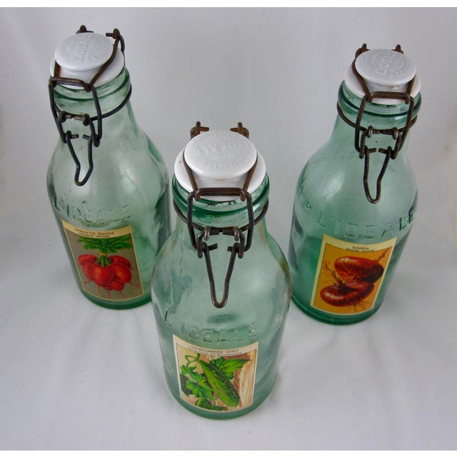 French L'Ideale Canning Preserve Jars - Set of 3 For Sale In Philadelphia - Image 6 of 11