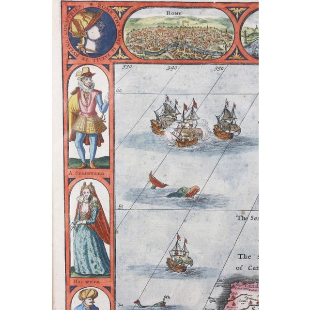 17th Century Framed Map of Roman Empire For Sale - Image 5 of 11