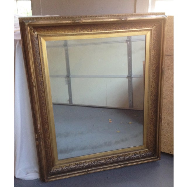 Antique Gilt-Wood Hand-Carved Mirror - Image 2 of 8