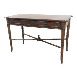 Faux Bamboo Console Table/ Writing Desk