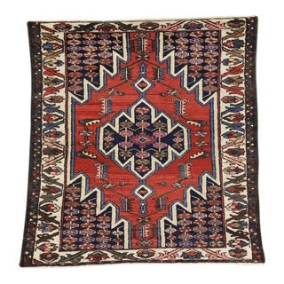 Antique Persian Mazlaghan Hamadan Rug With Modern Tribal Style, 03'01 X 05'01 For Sale