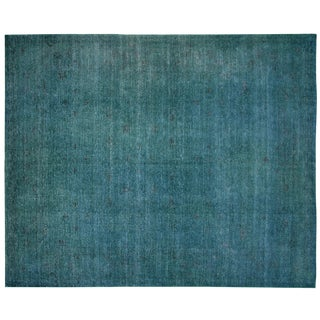 "Nalbandian - Contemporary Overdyed Egyptian Rug - 7'8"" X 9'6"" For Sale"