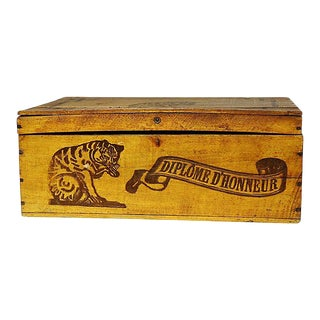 Antique French Soap Shipping Crate For Sale