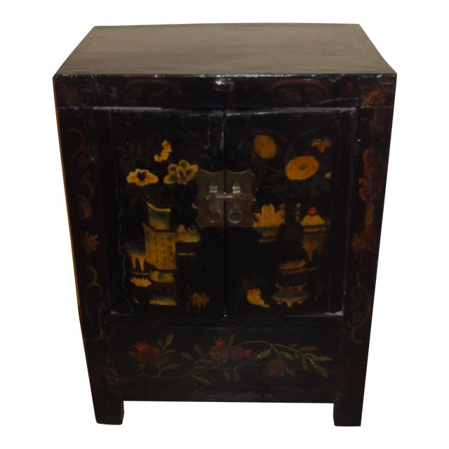 Asian Black Laquer Chest - Image 1 of 5
