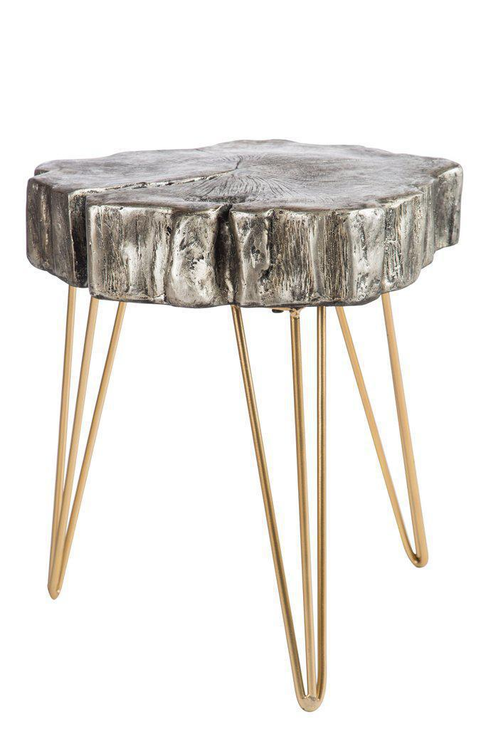 Reese Silver Log Side Table   Image 2 Of 2