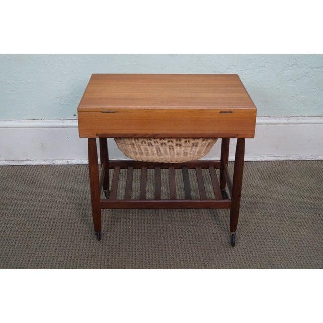 Vitre Vintage Danish Modern Teak Sewing Cart - Image 4 of 10