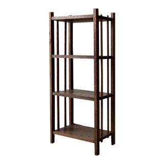 Mid-Century Wood Etagere Bookcase For Sale