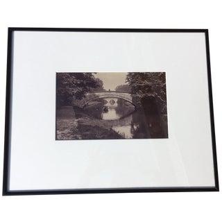 "Vintage ""King's Bridge, Cambridge"" Black & White Photograph"