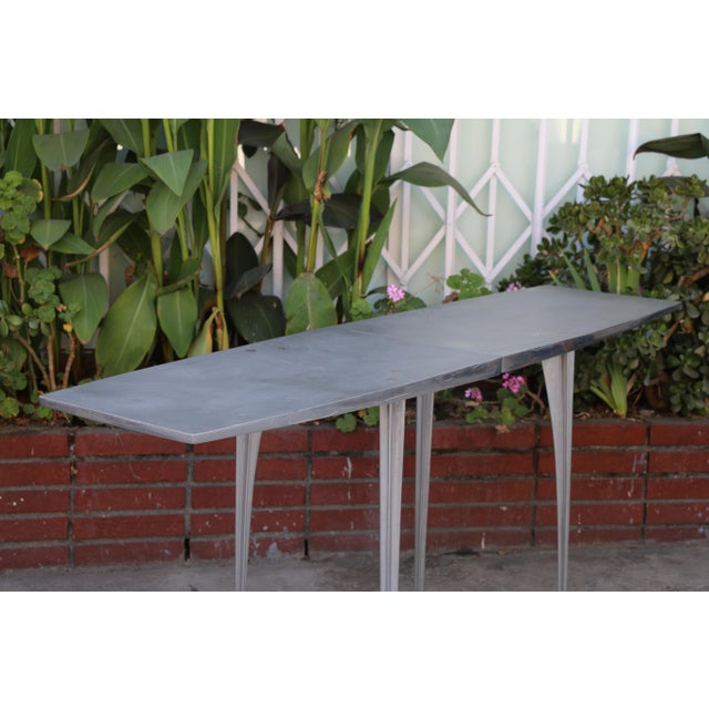 Aluminum Robert Josten Console Table For Sale In Los Angeles - Image 6 of 11