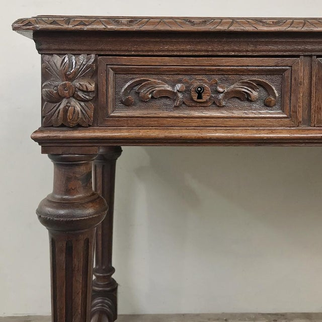 Late 19th Century 19th Century French Renaissance Writing Table For Sale - Image 5 of 13