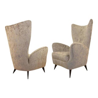 Pair of Italian Mid-Century Lounge Chairs For Sale