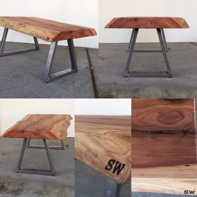 Live Edge Redwood Slab Coffee Table - Image 6 of 6