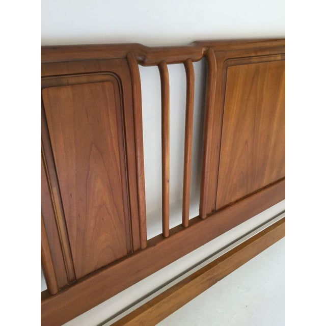 1970s Midcentury John Widdicomb Cherry King-Size Headboard For Sale - Image 5 of 8