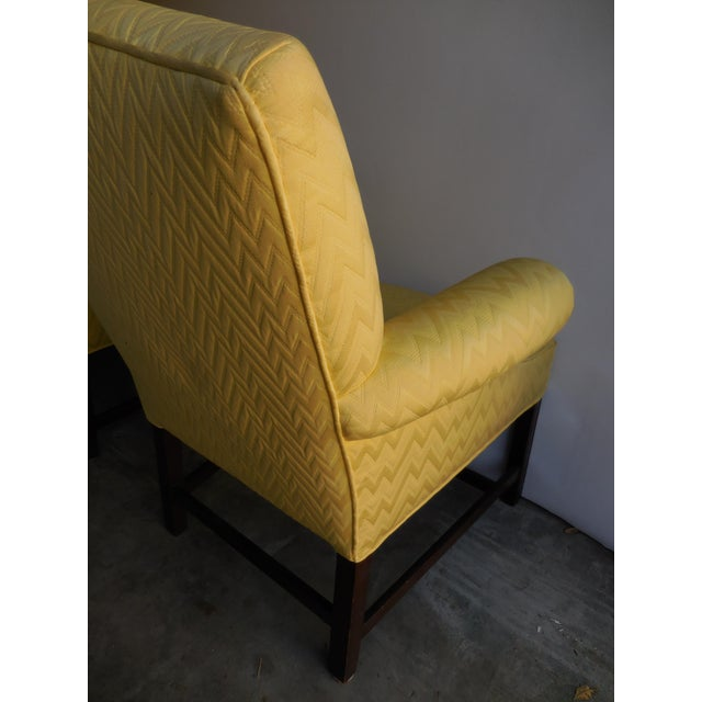 Vintage Yellow Fabric Bergere Chairs - A Pair - Image 6 of 7