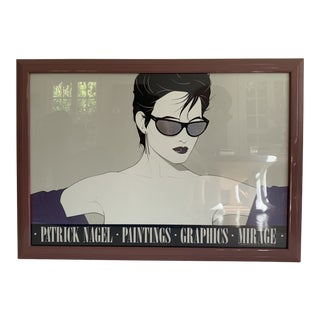 Rare Patrick Nagel Framed Mirage Print For Sale