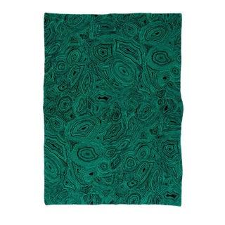 Malachite Cashmere Blanket, Green, Queen For Sale