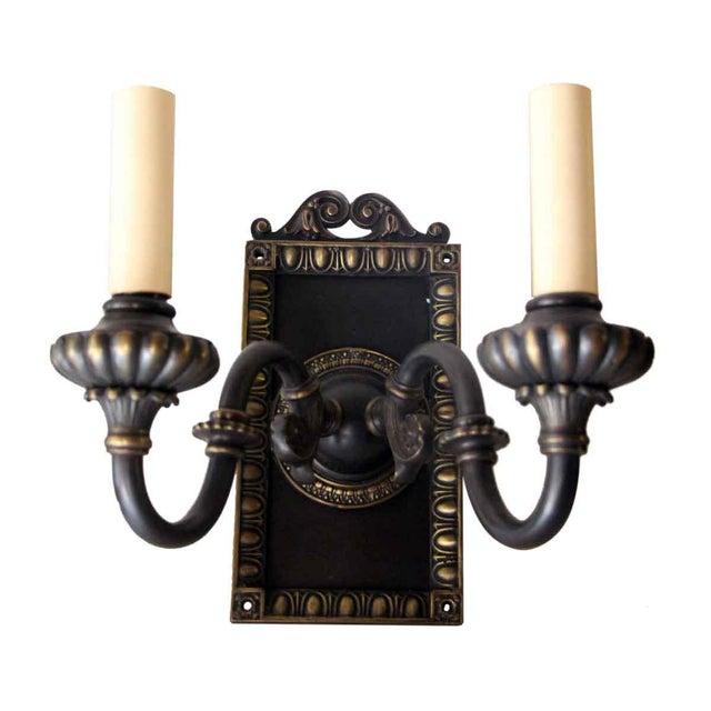 1920s Vintage Tudor Sconces - a Pair For Sale - Image 9 of 10