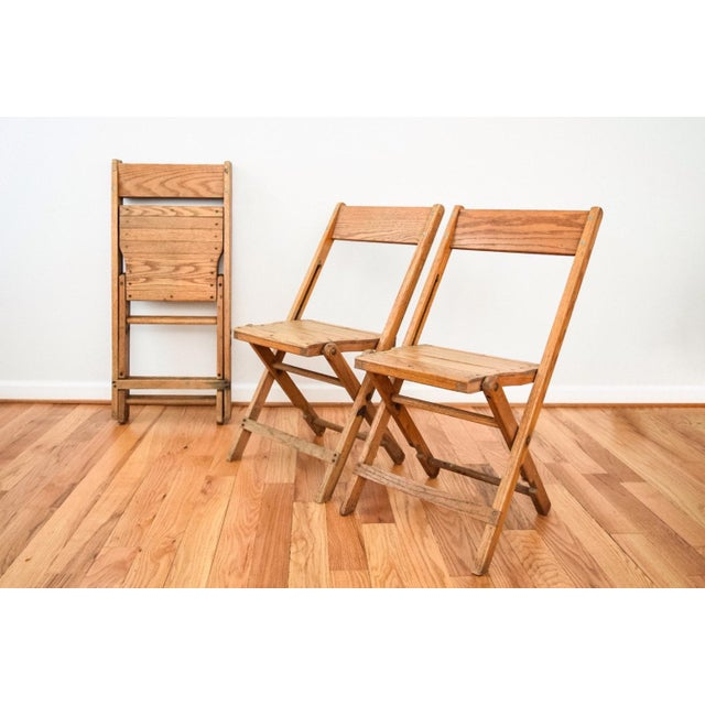 NOTE: Only 1 chair remaining. Three have been sold. • Antique wood folding - Vintage Antique Snyder Oak Wood Folding Chair Chairish