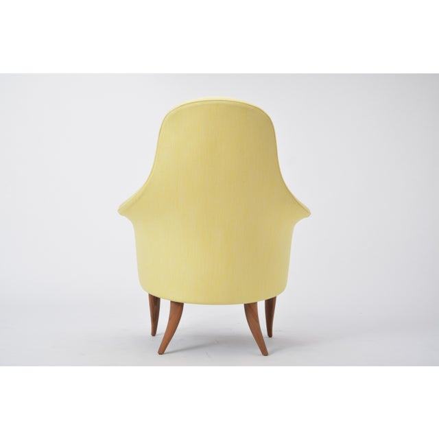 Mid 20th Century Large Adam' Reupholstered Lounge Chair With Ottoman by Kerstin Hörlin-Holmquist For Sale - Image 5 of 12