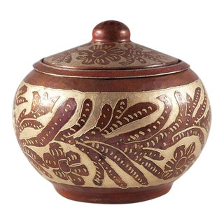 Round Copper & Nickel Container For Sale