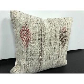 Turkish Modern Decor Organic Hand Woven Kilim Pillow Preview