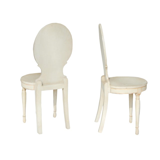 Unusual Pair of Swedish Gustavian Side Chairs - Image 4 of 10