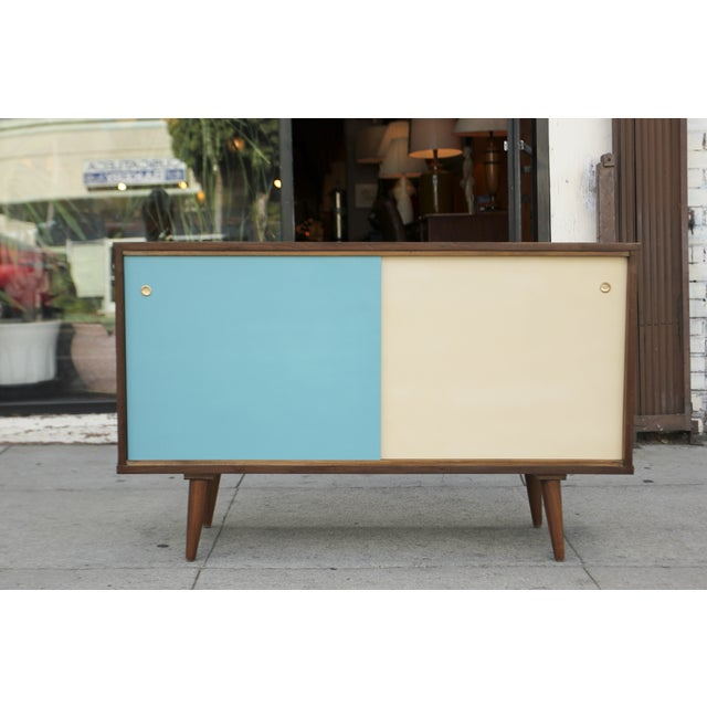 Mid-Century Modern Mid-Century Style Two Door Credenza For Sale - Image 3 of 10