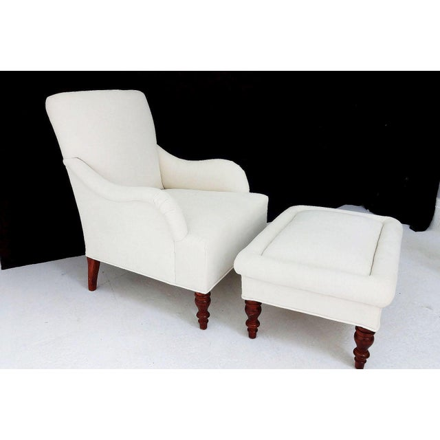 Vintage Club Chair & Ottoman - A Pair - Image 8 of 8