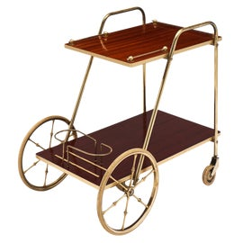 Image of Metal Bar Carts and Dry Bars