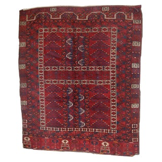Antique Turkoman Engsi Rug- 4′10″ × 6′ For Sale