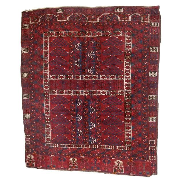 Antique Turkoman Engsi Rug- 4′10″ × 6′