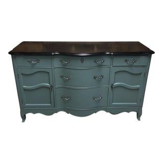 Vintage Bow Front Buffet Sideboard