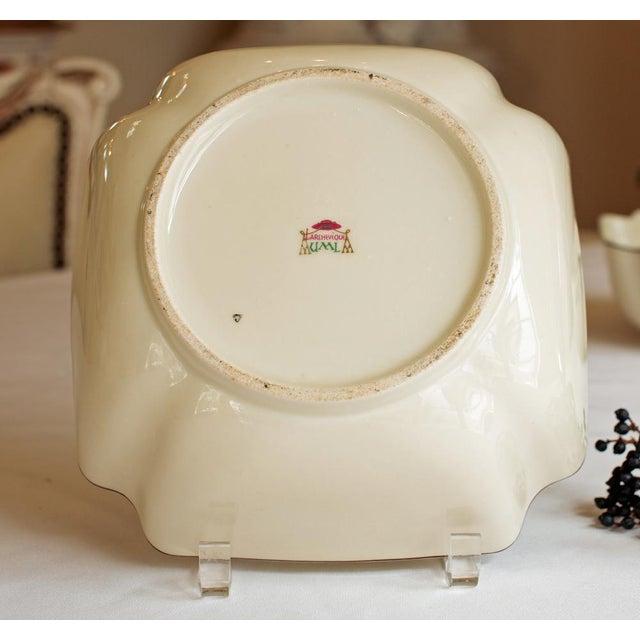 """Vintage French """"Le Manoir"""" Porcelain Serving Bowl - Image 5 of 5"""