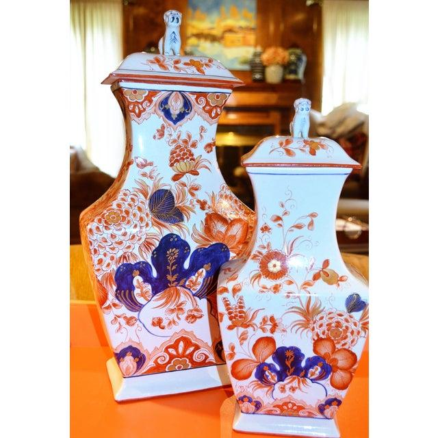 Italian Meiselman Foo Dog Vases - Pair - Image 6 of 7