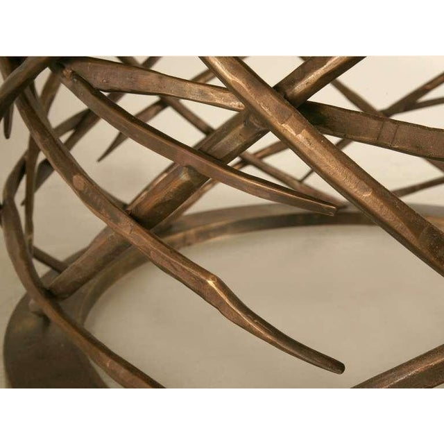 Custom-Made Woven Solid Bronze Table Base For Sale - Image 10 of 11