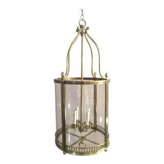 Large Brass Regency Hall Lantern