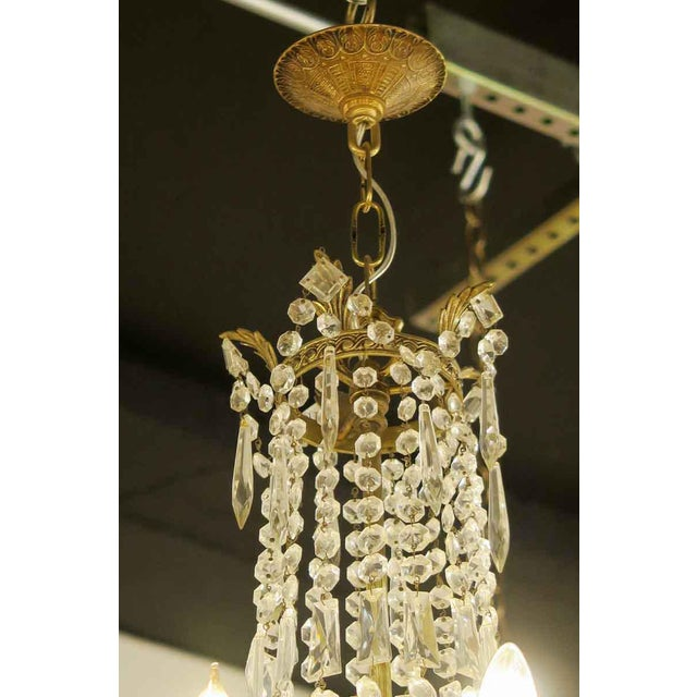 Antique 10 Arm Crystal Chandelier For Sale In New York - Image 6 of 12